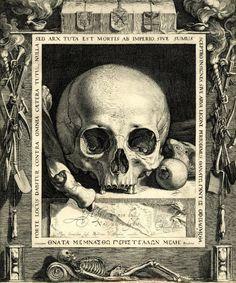Jan Saenredam ( - 1607 ) - Memento mori - gravure d' ap. Vanitas, Dance Of Death, Art Of Manliness, Macabre Art, Danse Macabre, Memento Mori Art, Arte Obscura, Momento Mori, Philadelphia Museum Of Art
