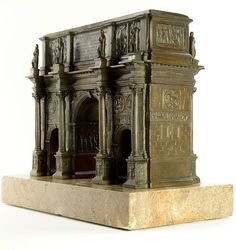 Arch of Constantine - bronze model  is accurately detailed. Unlike some earlier models, this miniature portrays the landmark as it was in the first part of the 19th century, without the four horse chariot and equestrian figures at its roof