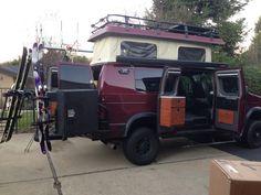 Sportsmobile Loaded With Aluminess Gearroof Rack Rear Bumper Swing Arms