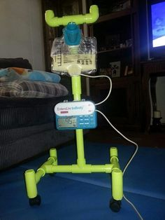 Need to make on for the little one Pvc pipe feeding pole Adaptive Equipment, Feeding Tube, Cerebral Palsy, Special Needs Kids, Nicu, Pvc Pipe, Child Life, Nutrition, Instruments