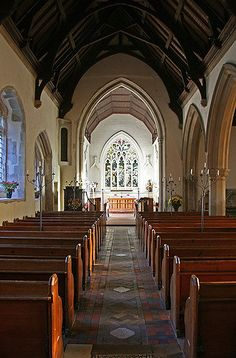 Grantchester church interior | Flickr - Photo Sharing! This is the church in the British TV series 'Grantchester'.  Beautiful!