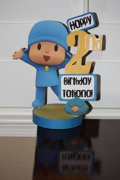 Pocoyo Personalized Birthday Party Centerpiece. $17.50, via Etsy.