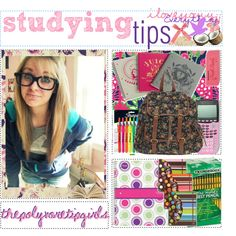 """Studying Tips ♥ ."" by thepolyvoretipgirls on Polyvore"