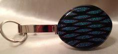 Purse Key Holder with Crinklized Dichroic by RoxysJewelsBeyond, $33.00