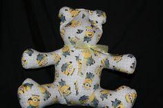 Gray Minions Share-A-Bear by NinasShareABear on Etsy Scary Kids, Very Scary, Backrest Pillow, Minions, Hug, Dinosaur Stuffed Animal, Teddy Bear, Gray, Children