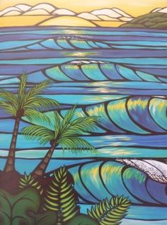 Sunset swell ~ Heather Brown