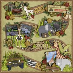 "Created for Kellybell Designs' Nov. Blog Challenge using Kellybell Designs ""Not A Zoo"" Kit Cardstock Wordart and Play a Game Templates 1 by ..."