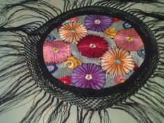 Antique Matyo Silk Embroidered Tablecloth Hungarian Round Colorful 1920   eBay