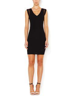 Brigitte Ribbed V-Neck Dress by Stella & Jamie at Gilt
