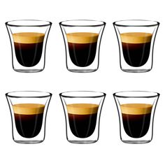 Jecobi Set of 6 Espresso Cup, Tumbler Glasses Handmade Double Walled Nespresso Cups Coffee Mug, 2.7.oz by Jecobi on Etsy