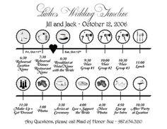 Wedding Day Timeline Template  Diy  Wedding