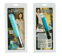 California Exotics Silicone Starlite Massager, Teal Probe by California Exotic Novelties. $22.73. Silicone. Multi-speed. Plastic. 5.5?x 1.2?/14 cm x 3 cm. Soft, powerful, hygienically superior massagers with a soft tip that have a brilliant starlight glow. 3 AAA batteries. Soft, powerful, waterproof, multi-speed, hygienically superior silicone massager with a soft tip that has a starlight glow and g-spot curve.. Save 28%!