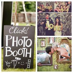 Hochzeitsfotografie einmal anders. Mit Photobooth hält ein neuer Hochzeitstrend Einzug: lustige Fotos, die Gäste via Selbstauslöser oder gemieteten Fotoautomaten selbst gestalten.
