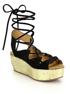 See by Chloe Lace-Up Metallic Leather