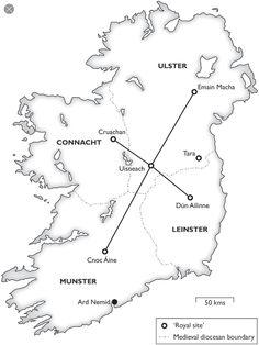 Royal Sites of Ireland Ireland Map, Ireland Travel, Belfast Northern Ireland, Celtic Mythology, Medieval World, Historical Maps, Irish Celtic, Irish Traditions, Republic Of Ireland