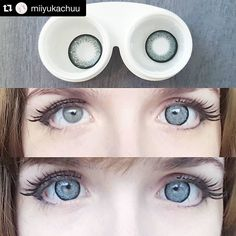 Thank you pretty @miiyukachuu for the lovely review! Contacts: Starburst Gray  #Repost @miiyukachuu  Here's my small lens review of the starbust gray lens I got from @ohmykittydotcom   Color: 5/5 As you can see the color is a really nice blue gray that blends very well!It's rather close to my natural color but you still can see that the opacity is good too >wo Also the pattern is awesome! I took a pic of the lebses alone so you can see it clearly c:  Comfort: 4/5 At first it felt really…