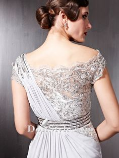 Delicate Paillettes Corset Chiffon Evening Dress/Gown (32679) - Special Occasion Dresses - US $ 159.99