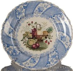 Nancy's Daily Dish English Country Decorating Decorate with Transferware Vintage China Hanging Plates Vintage Toile Dishes Antiques Staffordshire Interior Decor Blue And White China, Blue China, Antique China, Vintage China, Brown Plates, White Plates, Vintage Dishes, Vintage Plates, Smith Co
