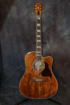 Brand New 2012 USA Gibson Custom Shop Koa Songwriter Hardshell Case Sounds WOW | eBay