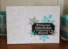 Scrap Savvy Creations: If Kisses Were Snowflakes Magenta Card and Technique Tutorial