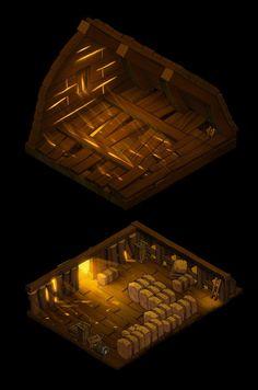 Barn Dungeon top + base by *danimation2001 on deviantART