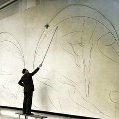 "Henri Matisse working on ""The Dance"""
