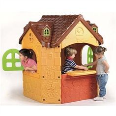 """The Fancy Manor will let your little Downton Abbey fans pretend they're Lord and Ladies! The beauty has a """"real"""" door bell and turning key. Built like a tudor style house with intricate detailing inside and out. The bright colors are resistant to fading.http://www.sensoryedge.com/childrens-fancy-manor-house.html"""