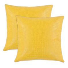Glade Runner Yellow 17-inch KE Fiber Throw Pillow (Set of 2) | Overstock™ Shopping - Great Deals on Throw Pillows