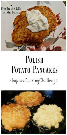 A Day in the Life on the Farm: Polish Potato Pancakes Polish Food, Polish Recipes, Polish Desserts, Austrian Recipes, Austrian Food, Polish Potato Pancakes, Eastern European Recipes, Potato Latkes, Dinner Menu