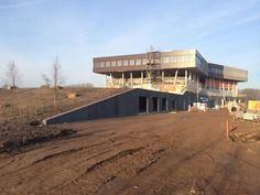 Nieuwbouw Liemers College Landeweer te #Zevenaar in volle gang! Vrijdag 31 januari 2014. via twitter @LIAGarchitects.