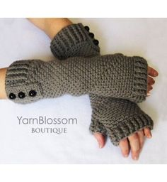CROCHET PATTERN Fingerless Gloves (Sizes Adult Small to X-Large) Instant Download