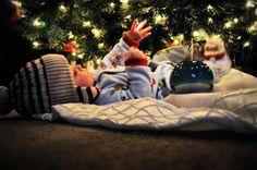 Christmas Photo Idea: Placing baby underneath the Xmas tree.