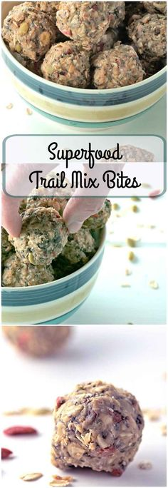 Superfood Trail Mix Bites are a no-bake, easy to make, nutritious snack. Perfect…