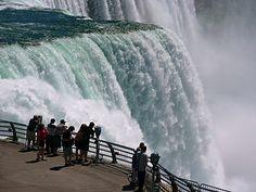 Niagara Falls, the American falls portion.
