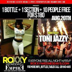 uh ohh!!! looks like I'm back at it! I'm hosting tmrw night at Roxxy 3101 San Jacinto... reverse happy hour 9p-11p .. free entry wit RSVP... #JAZZYJAMENT