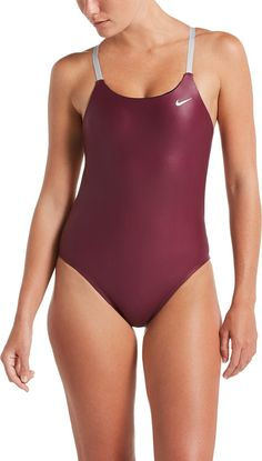 cc155fffa Nike Women s Flash Bonded Cut-Out One Piece Swimsuit