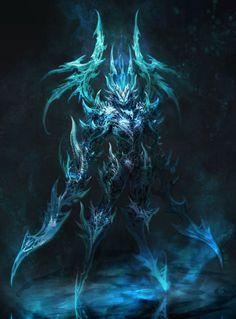 Spirit of the Frozen, Makara Whisper Fantasy Demon, Fantasy Beasts, Demon Art, Fantasy Monster, Fantasy Warrior, Dark Fantasy Art, Anime Fantasy, Fantasy Artwork, Dark Art