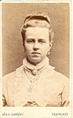 Grand Duchess Maria Alexandrovna of Russia was a daughter of Alexander II of Russia/Empress Maria Alexandrovna. Maria became the wife of Prince Alfred, Duke of Edinburgh, the 2nd son of Queen Victoria  and Prince Albert of Saxe-Coburg and Gotha.    She died in exile in Switzerland after World War I when Coburg, the principality her husband and nephew had ruled, ceased to exist. It has been said that she died of shock when the postman delivered a letter addressed to plain 'Frau Coburg.'