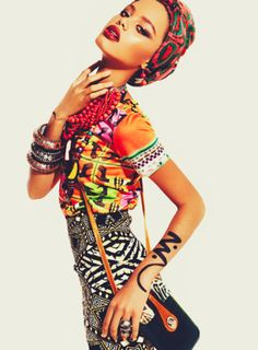 Soulful groove- love the ink art on her arm- African Fashion..I LOVE EVERYTHING ABOUT THIS