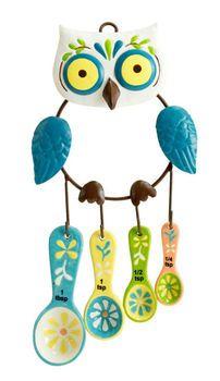 Floral Owl Measuring Spoon Set Pinned by www.myowlbarn.com