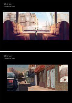 Artes de One Day, curta de graduação para a Gobelins   THECAB - The Concept Art Blog