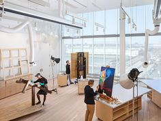 """The conservation room in the Whitney's new building, designed by Renzo Piano, who worked from """"the logic of the force of necessity"""" to fulfill the needs of the curators and the staff."""