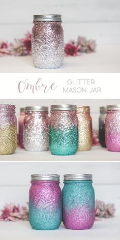 Are you in search of some awesome mason jar crafts? This list has 25 incredible craft projects from bathroom accessories to garden solar lights, that you can DIY easily using Mason Jars or jars from your recycling box! So for a huge list of easy diy craft Diy Décoration, Easy Diy Crafts, Fun Crafts, Diy Crafts For Bedroom, Homemade Crafts, Cute Diy Crafts For Your Room, Decor Crafts, Fun And Easy Diys, Christmas Decorations Diy Crafts