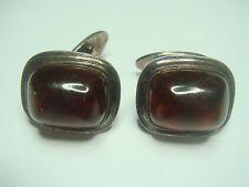 50 Antike Art Deco Manschettenknöpfe cufflinks echt Silber 830 & Bernstein amber