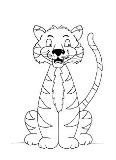 Tiger colouring sheet free PDF Pictures To Trace Childs