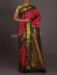 Kavita Bold Checks Beauty Real Zari #GadwalSilkSaree