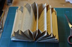 Good tutorial - so interesting! - - - Wings of Whimsy: DIY Book Crafts No 4 - Accordion Organizer -- Then add one extra accordion to create the poc. Diy Old Books, Old Book Crafts, Book Page Crafts, Recycled Books, Paper Crafts, Diy Little Books, Folded Book Art, Book Folding, Altered Book Art