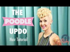 Betty Grable Pinup Poodle Hair Tutorial - www. Ball Hairstyles, 1950s Hairstyles, Hairdos, Pinup, Poodle Hair, Short Hair Styles, Natural Hair Styles, Vintage Hairstyles Tutorial, Retro Updo