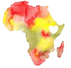 africa watercolor