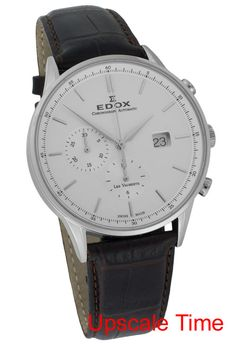 Edox Les Vauberts Chronograph Men's Luxury Watch 91001 3 AIN